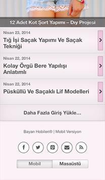 Bayan Hobileri apk screenshot