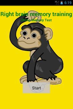 Right brain memory training poster