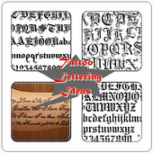 Tattoo Font and Lettering icon