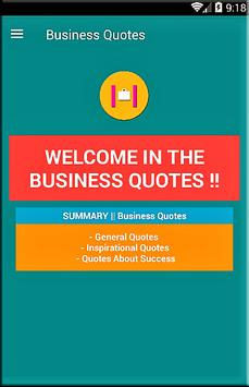 Business Quotes poster