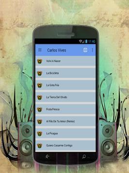 Carlos Vives La Bicicleta canto y música 2017 apk screenshot