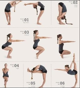 yoga positions poster