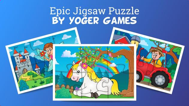 Epic Jigsaw Puzzle game for kids and toddlers 🦄 poster