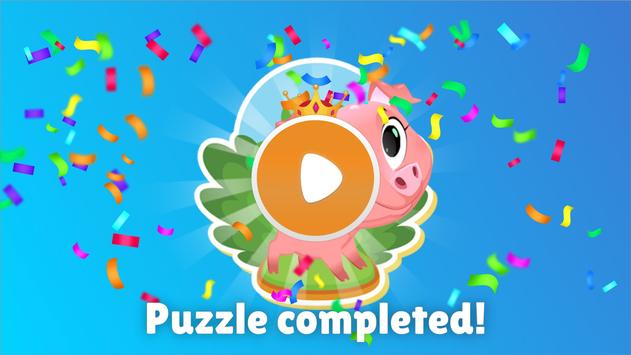 Animal Shape & Peg Puzzle for Kids and Toddlers screenshot 4