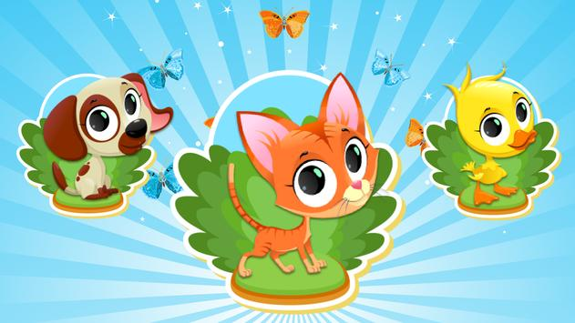 Animal Shape & Peg Puzzle for Kids and Toddlers poster