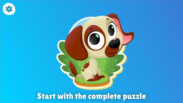 Animal Shape & Peg Puzzle for Kids and Toddlers screenshot 1