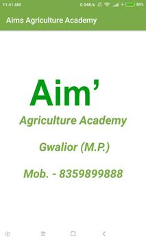 Aims Agri Academy Gwalior poster
