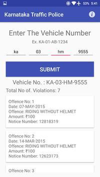 Karnataka Traffic Police apk screenshot