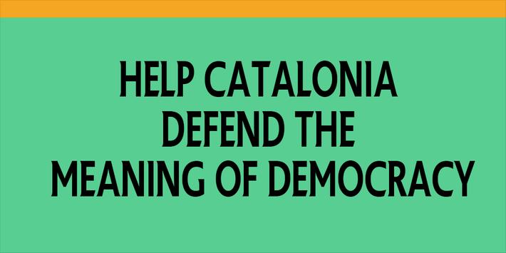 Catalonia & Democracy + poster