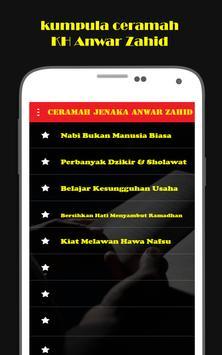 Ceramah Jenaka Anwar Zahid mp3 apk screenshot