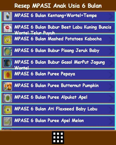 Resep Makanan Mpasi Bayi 6 Bulan For Android Apk Download