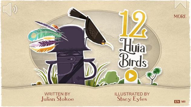 12 Huia Birds poster