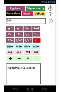 Algorithmic Calculator poster