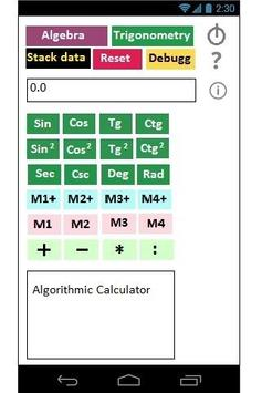 Algorithmic Calculator screenshot 1