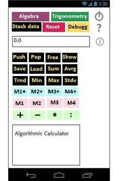 Algorithmic Calculator screenshot 2