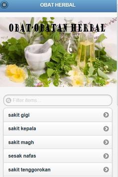 Obat Herbal poster