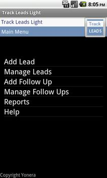Sales Leads Tracking Lite Free poster