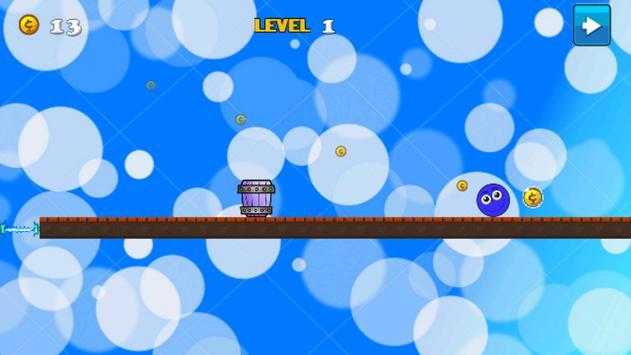 Blue Ball Rolling apk screenshot