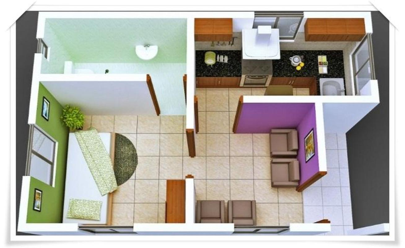 Design For Small House: 3D Small House Layout Design For Android