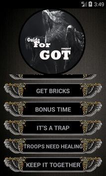 Guide for GOT conquest screenshot 3