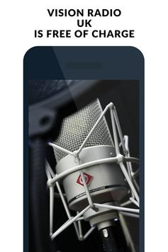Radio for  Vision Radio UK London screenshot 3