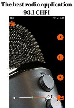 Radio 98.1 CHFI poster
