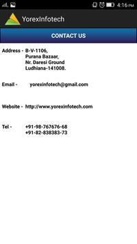 Yorex Infotech apk screenshot