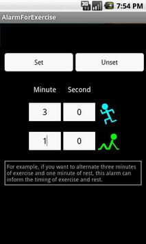 Alarm for exercise poster