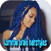 Cornrow braid hairstyles icon