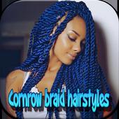Cornrow braid hairstyles icon