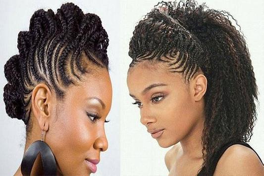 Cornrow braid hairstyles poster