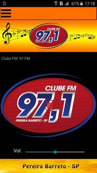 Clube FM 97 poster