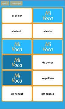 MiVoca Memory Spaans poster