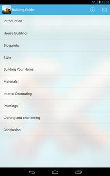 Building Guide apk screenshot