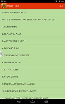 Coolest Places to Eat in USA apk screenshot