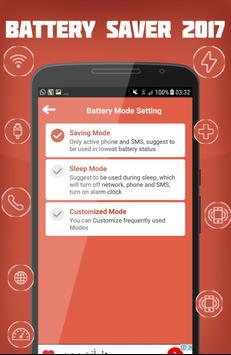 Battery saver 2017 apk screenshot