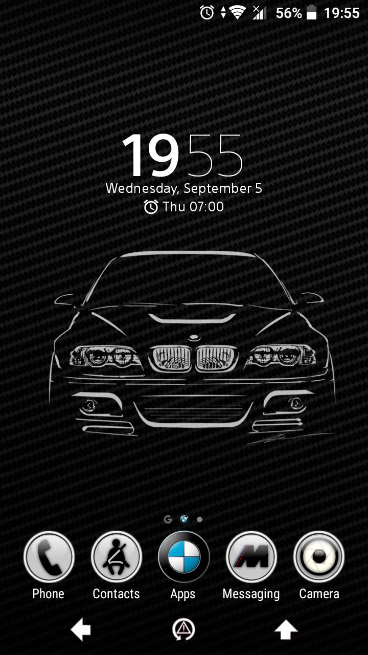 Carbon Black BMW E46 Xperia™ Theme for Android - APK Download