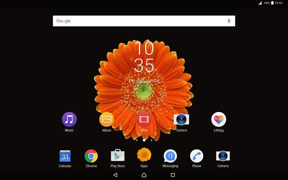 Flower Gerbera Theme for Xperia apk screenshot