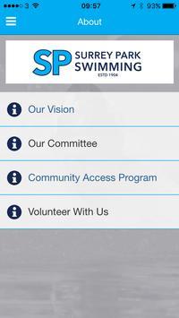 Surrey Park Swimming App apk screenshot