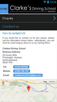 Clarkes Driving School screenshot 4
