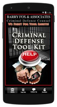 Barry Fox Criminal Defence Law poster