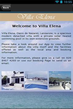 Villa Elena Lanzarote apk screenshot