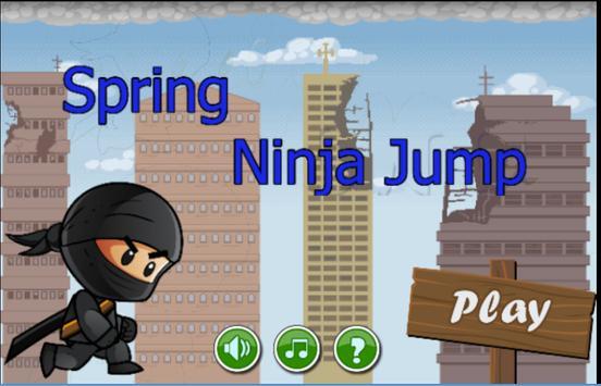 spring ninja jump poster
