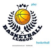 play basket ball game icon