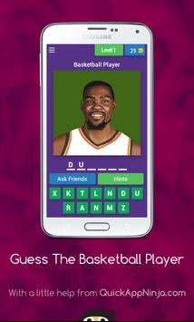 play basket ball game poster