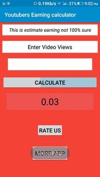 Youtubers Earning calculator poster