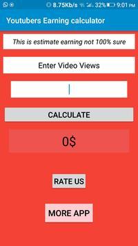 Youtubers Earning calculator screenshot 1
