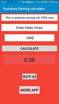 Youtubers Earning calculator screenshot 2
