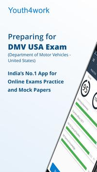 DMV Test USA Prep App poster