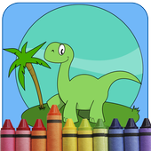 Cute Dinosaur Coloring Games icon